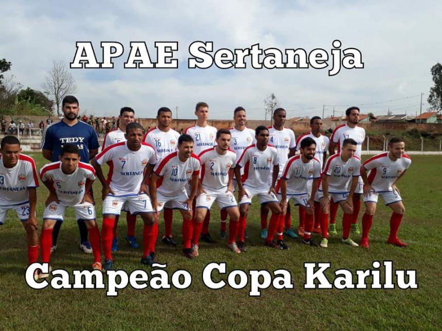 APAE Sertaneja é campeão da 1ª copa Karilu troféu Severino Bandeira