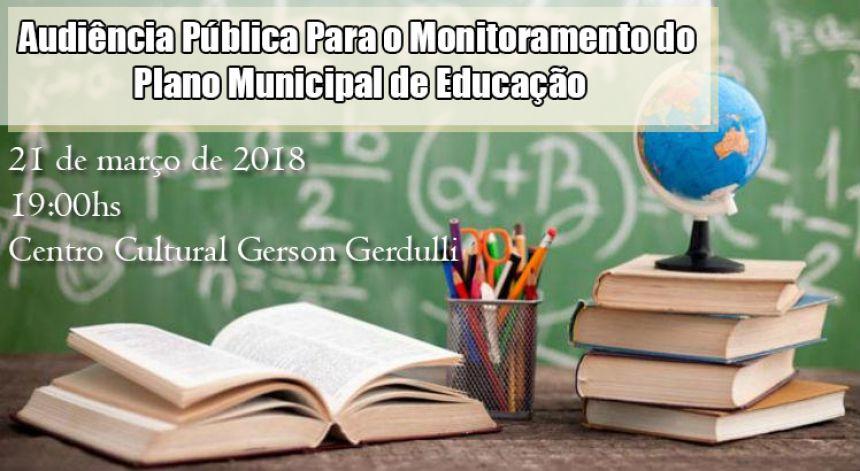 Audiência Pública Para o Monitoramento do Plano Municipal de Educação