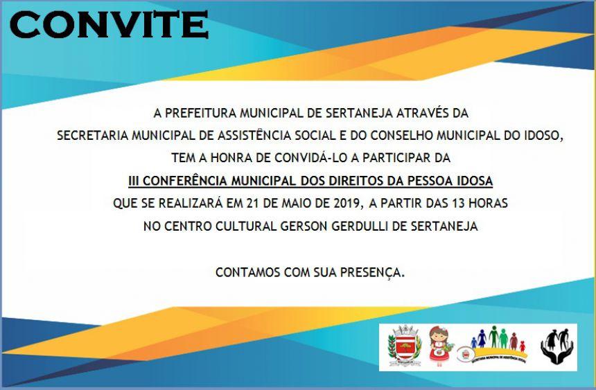 III Conferência Municipal dos Direitos da Pessoa Idosa