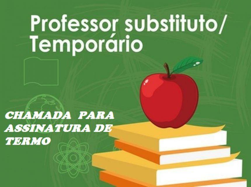 EDITAL DE CHAMADA PARA ASSINATURA DE TERMO