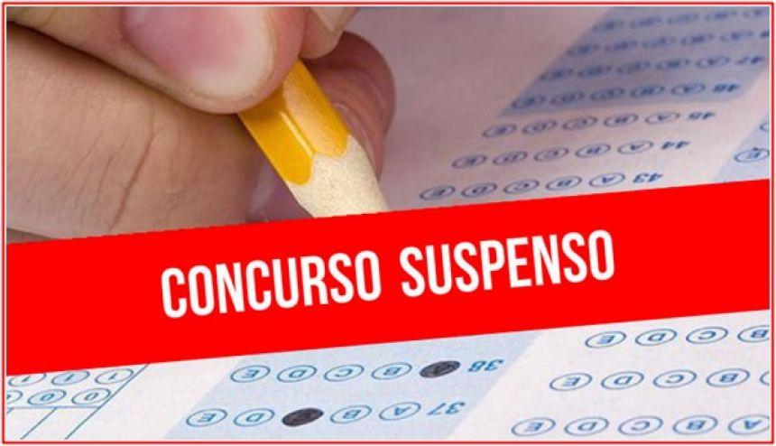 SUSPENSÃO DO CONCURSO PÚBLICO 01/2020