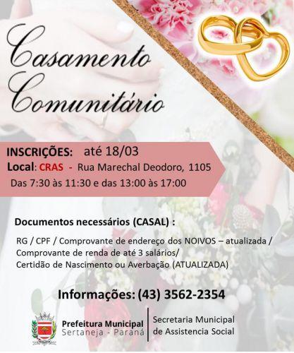 CASAMENTO COMUNITÁRIO