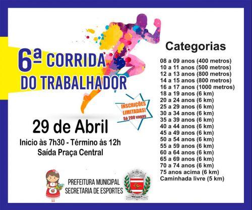 6ª CORRIDA DO TRABALHADOR