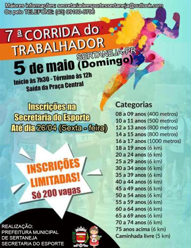 7ª CORRIDA DO TRABALHADOR