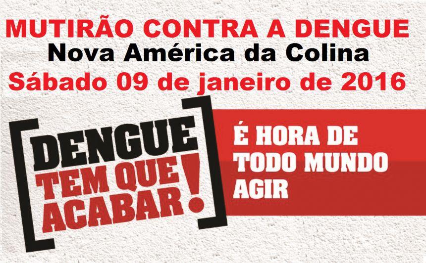 MUNICÍPIO REALIZA MUTIRÃO CONTRA DENGUE