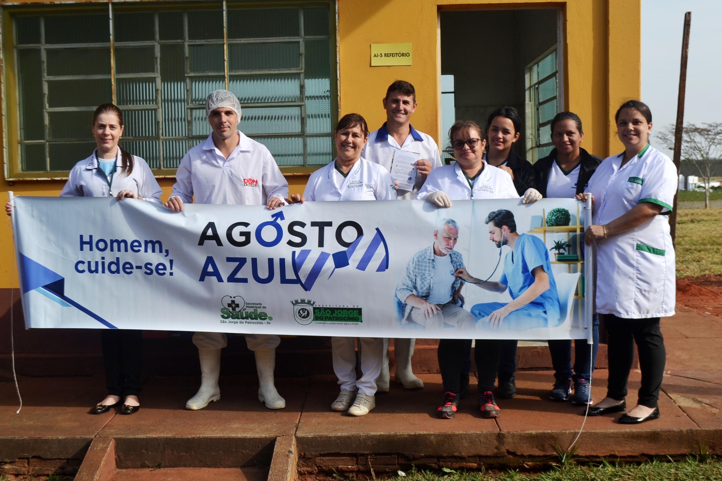 CAMPANHA AGOSTO AZUL ALERTA HOMENS SOBRE CUIDADOS COM SAÚDE