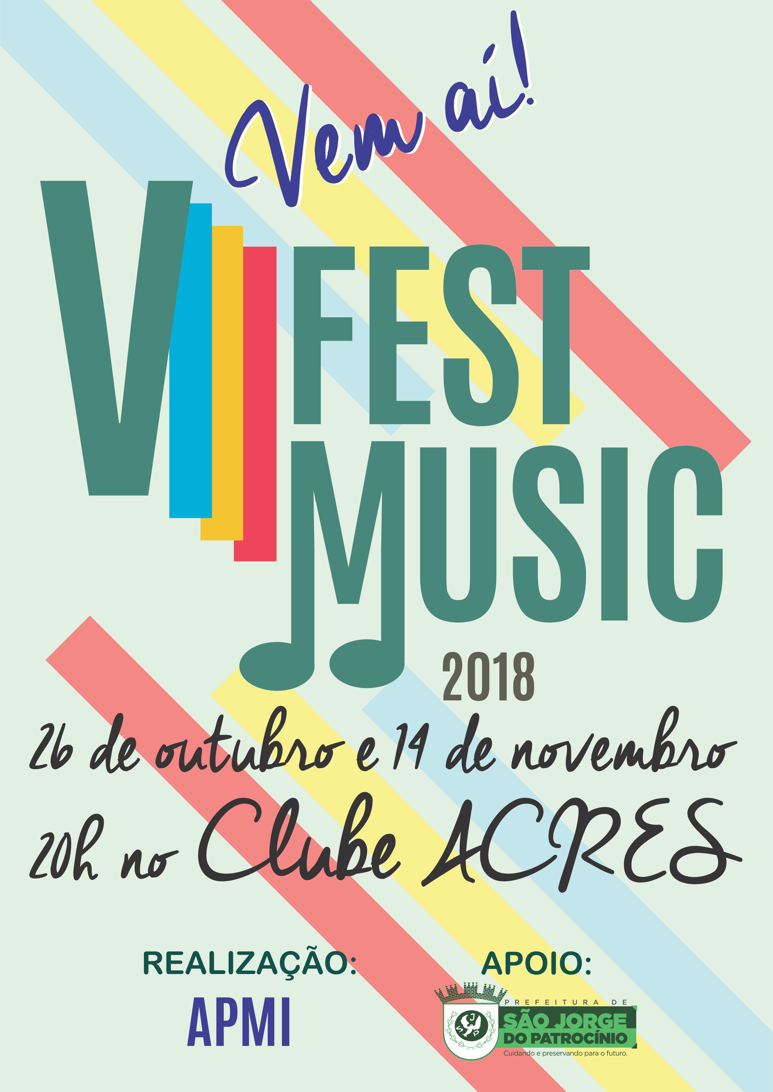 VIII FEST MUSIC PROMETE AGITAR SÃO JORGE DO PATROCÍNIO!!!