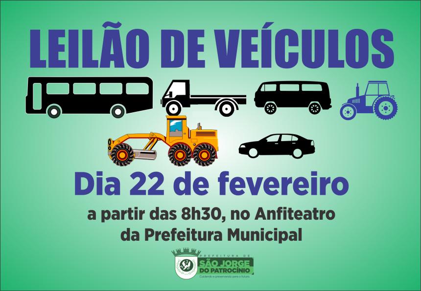 PREFEITURA REALIZA LEILÃO DE VEÍCULOS