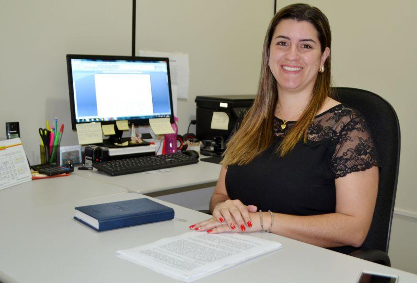 A Secretária de Assistência Social Lilian da Cruz Gouveia