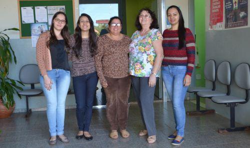 Equipe de CRAS: Paula, Fernanda, Maria Edna, Maria Alice e Rosângela