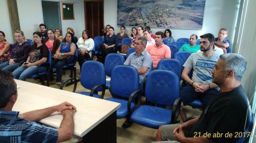 Reunião com Equipe Adiministrativa da Prefeitura Municipal