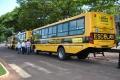 São Jorge do Patrocínio recebe 03 ônibus novos para o transporte escolar.