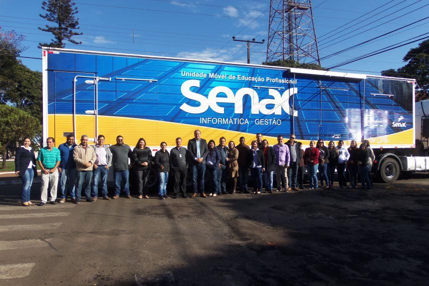 Unidade Móvel do Senac em Tapejara
