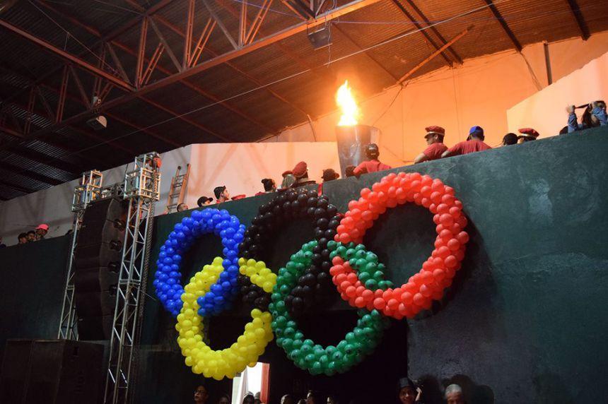 Cerimônia de abertura dos Jogos Escolares em Tapejara