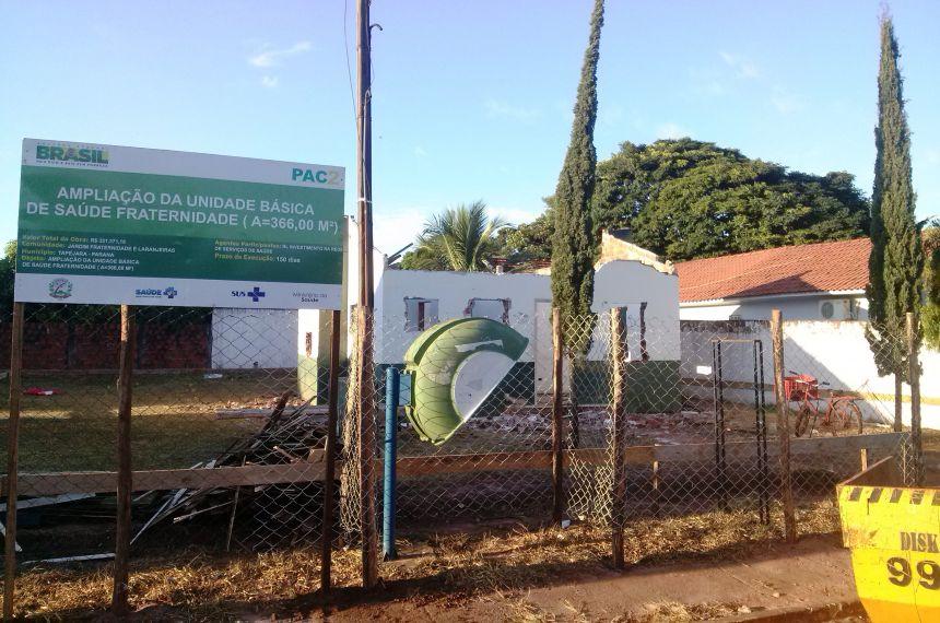 Iniciadas as obras de reforma e ampliação da Unidade de Saúde no Jardim Fraternidade