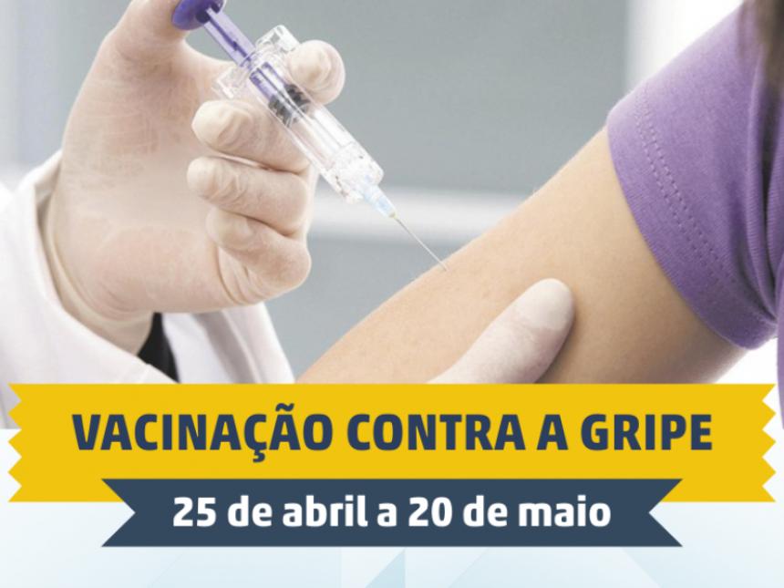 Campanha de vacinação contra a Influenza (H1N1) começa nesta segunda-feira