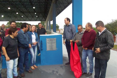 Reinauguração da Quadra Poliesportiva Municipal