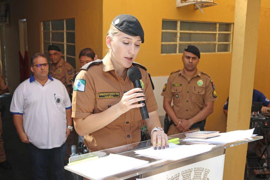 Instalações do Destacamento da Policia Militar de Leópolis