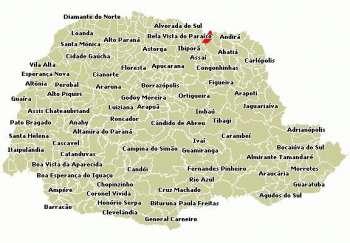 Figura 1. Mapa da localiza��o do Munic�pio no Estado do Paran�