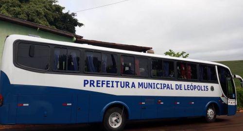 Município de Leópolis adquire ônibus rodoviário