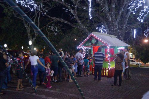 Chegada do Papai Noel em Leópolis-PR