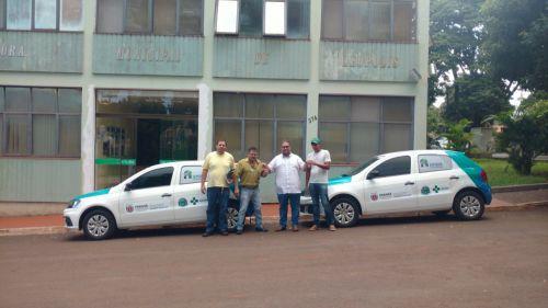 Entrega de Veículos novos para os Distritos de Jandinópolis e Primavera