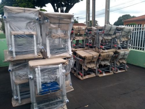 Mobiliário Escolar adquirido com o recurso do PAR.