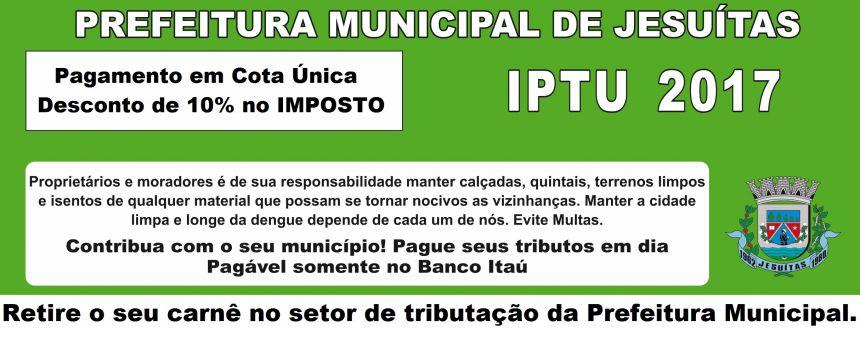 IPTU 2017 Já Está Disponível