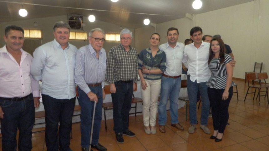 Valdir Rossoni, André Bueno e várias autoridades estaduais e regionais são recebidas pelo prefeito Junior Weiller em Jesuítas