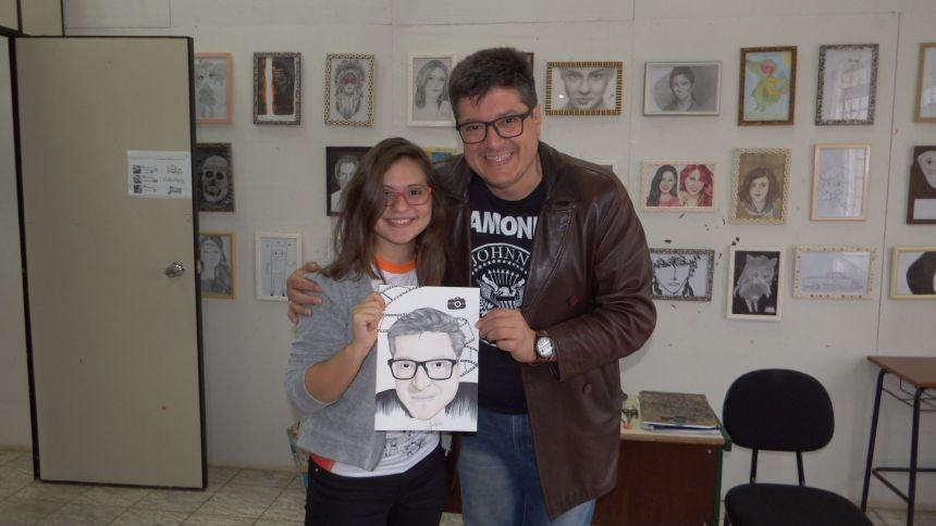 Alunos/artistas do curso de Desenho Artístico da Casa da Cultura de Jesuítas se destacam com suas obras