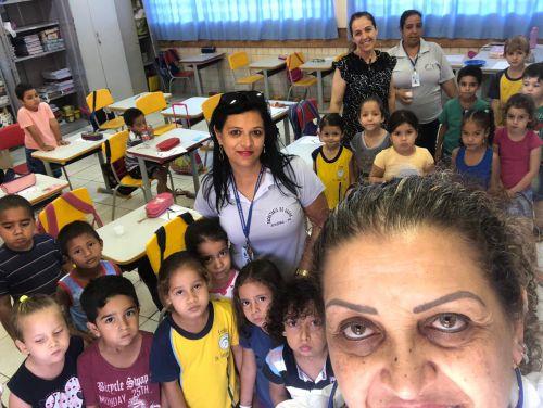 Secretaria de Saúde de Jesuítas desenvolve ações, junto às crianças, para prevenir possíveis doenças bucais