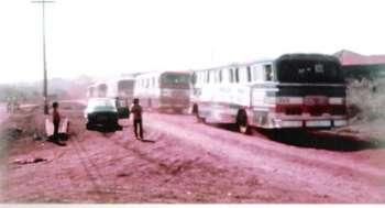 Romaria no Ano de 1972 indo para Aparecida do Norte