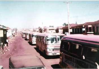 Em 1972 chegando de Aparecida do Norte, na Avenida Pe. Anchieta onde hoje é a Rodoviaria .