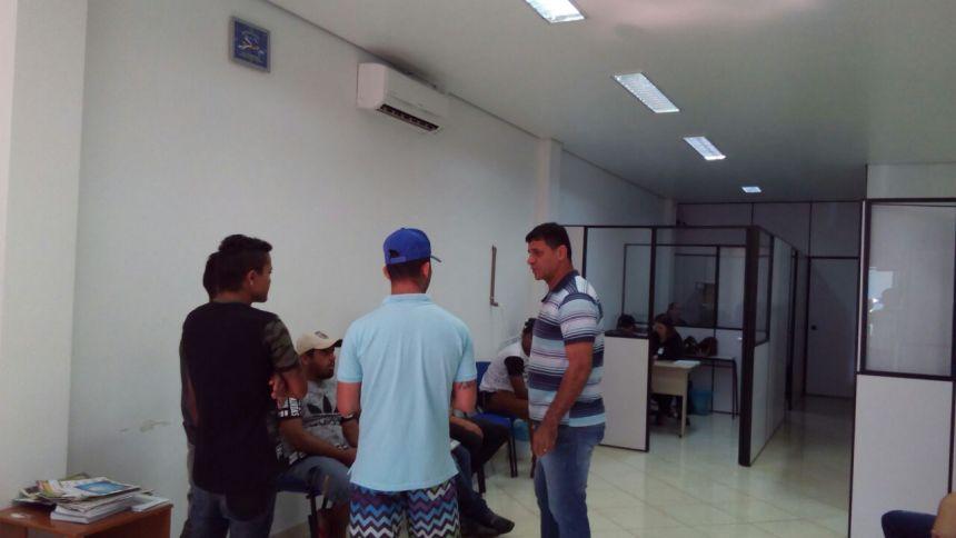 Vereador Fabio Lima acompanha o trabalho da Agência do Trabalhador