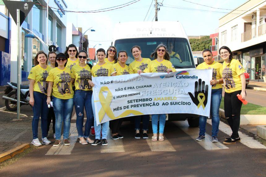 Secretaria de Saúde de Cafelândia realiza ações do Setembro Amarelo