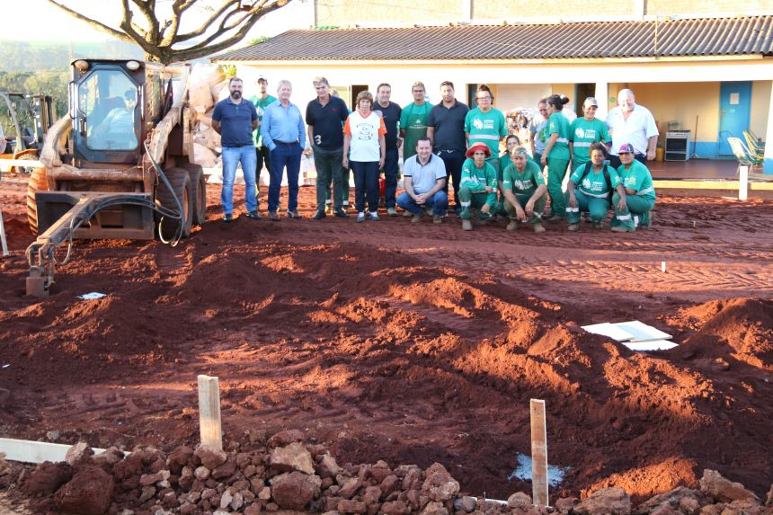 Governo de Cafelândia e Itaipu iniciam construção da Unidade de Valorização de Reciclável