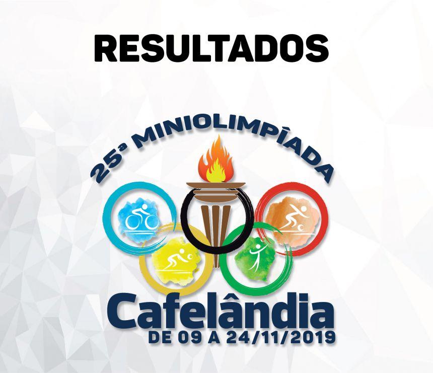 Resultados dos jogos da 25ª Miniolimpíada de Cafelândia