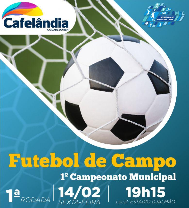 Cafelândia: campeonato municipal de futebol de campo começa hoje