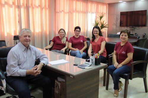 Prefeito Dr. Franus recebe a visita de integrantes do Programa PDLF Copacol