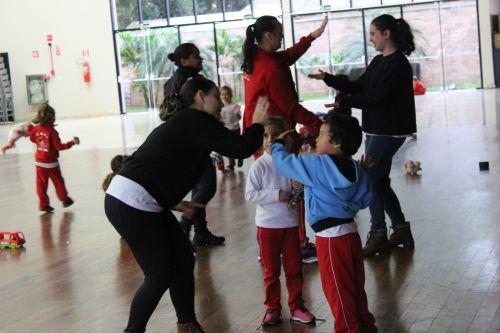 Alunos do CMEI João XXlll se divertem em aula recreativa