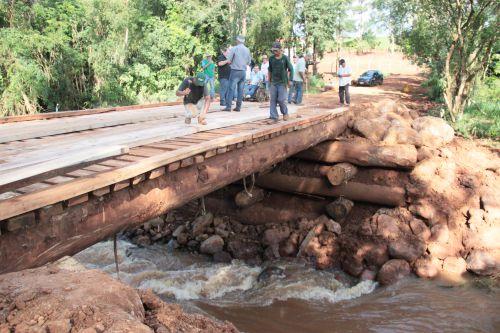 Dr. Franus e Vice Lorenço Pierdoná liberam a Ponte do Rio Verde