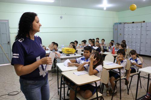 "André Luiz e Manoel da Nóbrega de Cafelândia participam do programa ""Saúde na Escola"""