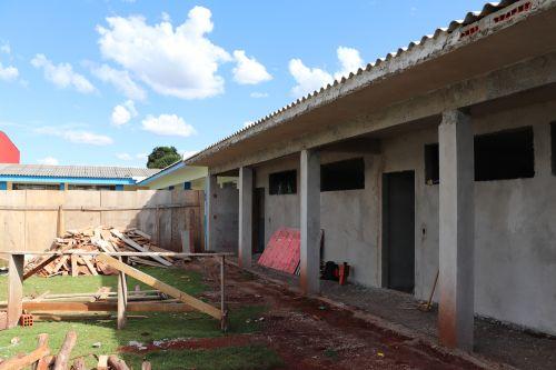 Ampliação da Escola André Luiz de Cafelândia está em reta final
