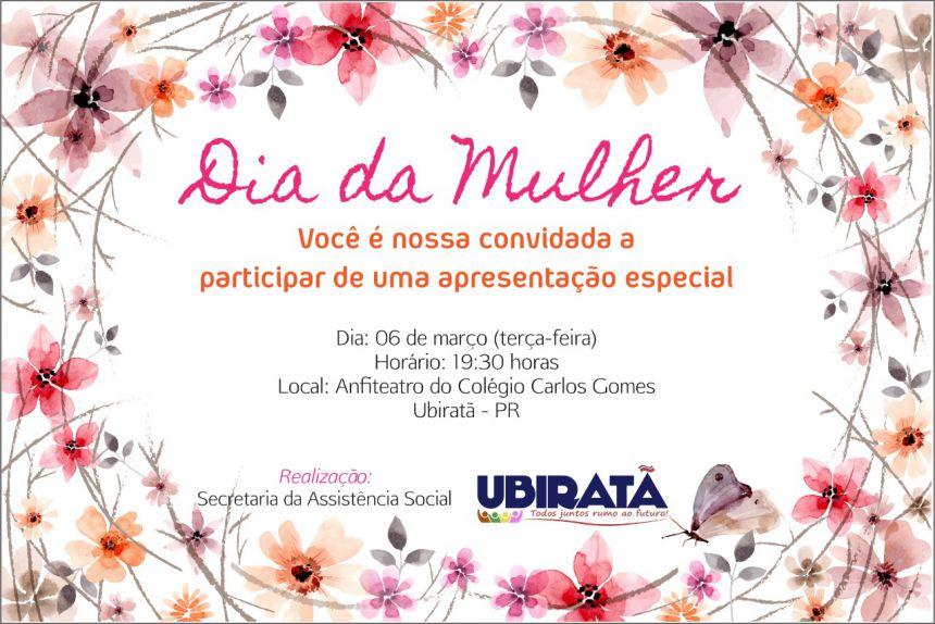 Evento comemorativo ao Dia da Mulher será na terça-feira