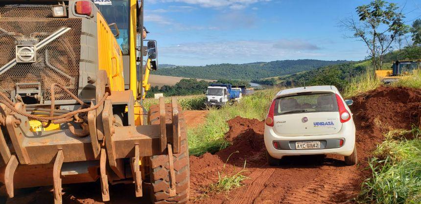Serviços Rurais realizou melhorias na Estrada Porto Zero na Curva da Onça