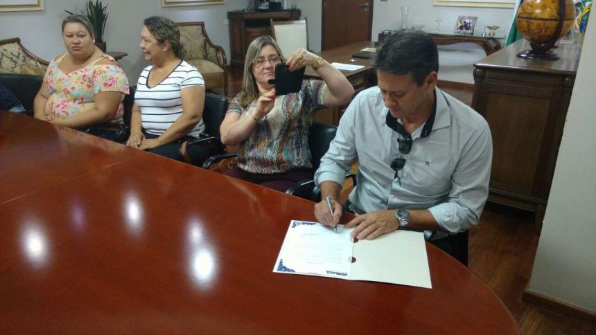 Assinado a Ordem de Reforma e Ampliação do CMEI Boa Vista