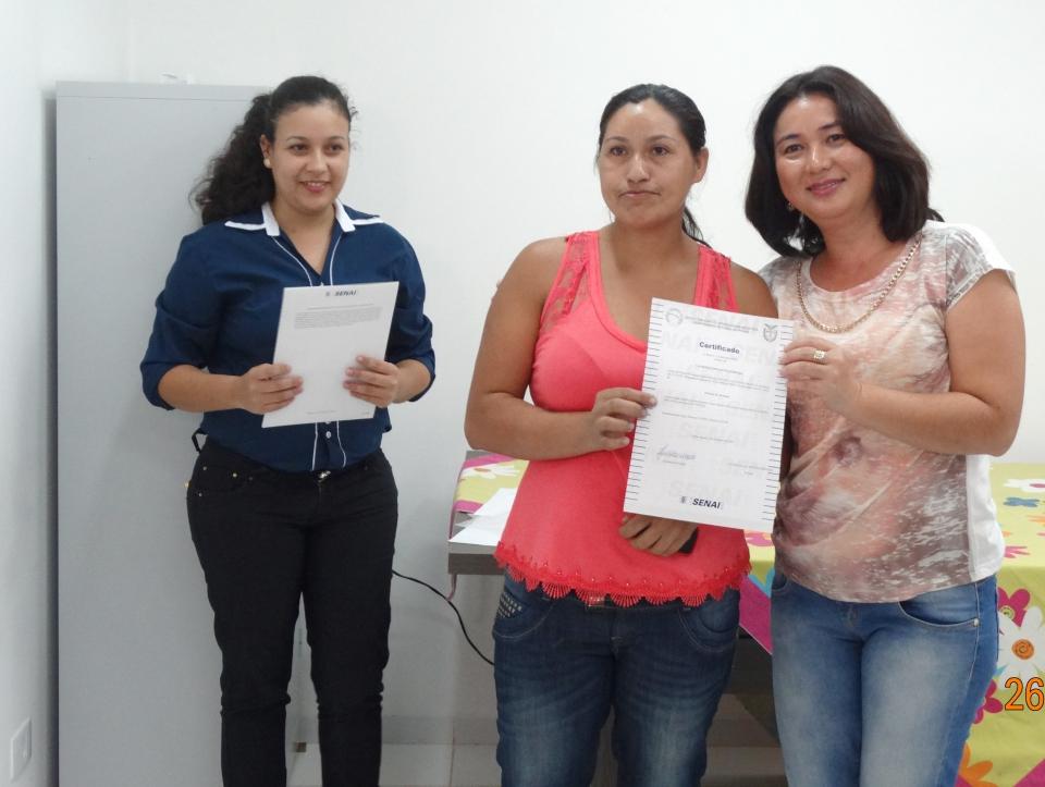 O Instituto SESI/SENAI de Campo Mourão, instituição que possui certificação nacional, realizou o curso em Ubiratã