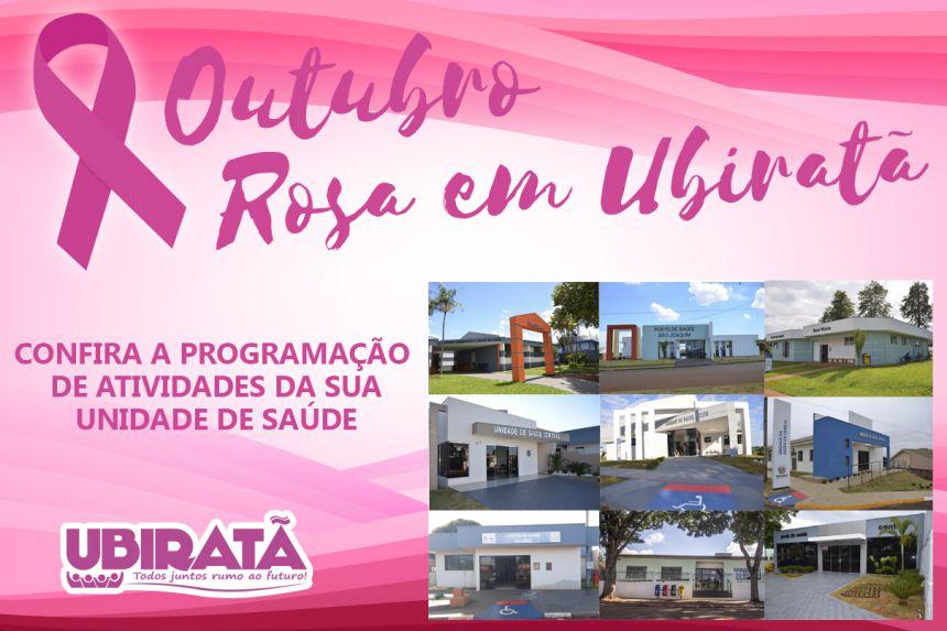 Ações do Outubro Rosa em Ubiratã