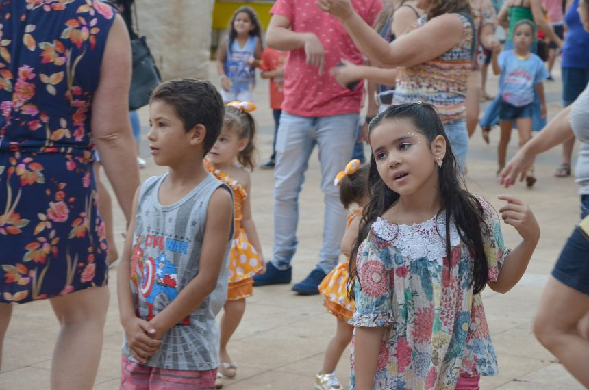 Crianças brincaram o Carnaval da Seringueira na matinê