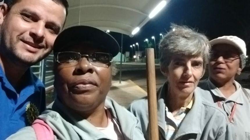 Margaridas: profissionais dedicadas à limpeza pública da cidade